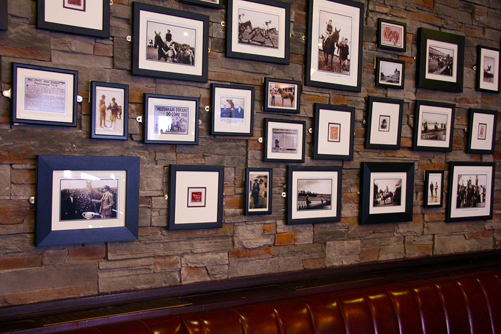 Our picture wall of photos from the days of The Baldoyle Races