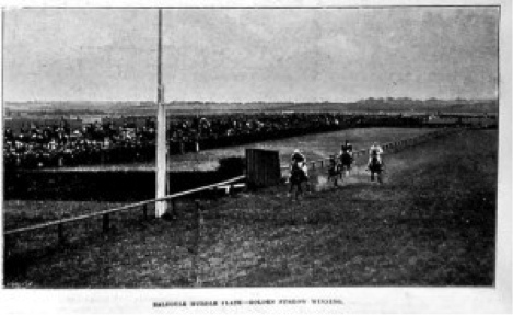 The finish of The Baldoyle Hurdle on August Monday 1901 (MJH collection)